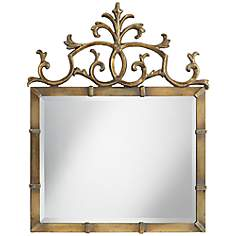 "Uttermost Alba 31 1/4"" x 38"" Gold Wall Mirror"