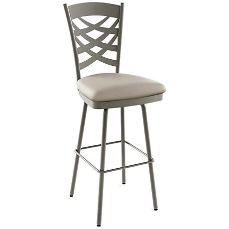 "Amisco Nest Oyster 30"" Titanium Warm Gray Bar Stool"