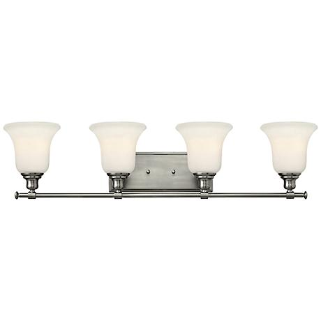 "Hinkley Colette 33 1/4"" Wide Brushed Nickel Bathroom Light"