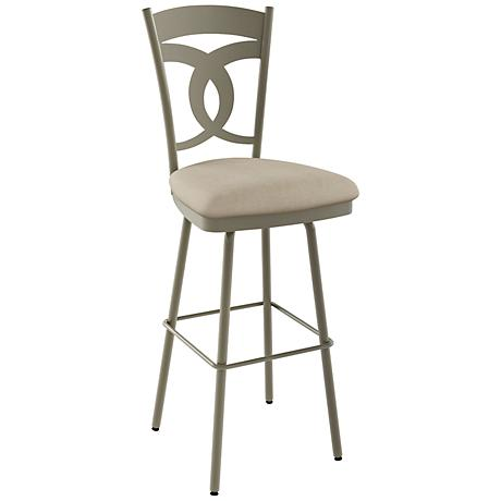 "Amisco Valley Pebble 26"" Titanium Warm Gray Counter Stool"