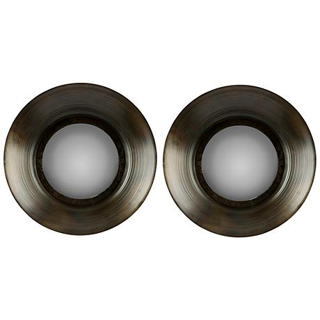 "Cooper Classics Sashi 14 1/2"" Round Wall Mirror Set of 2"