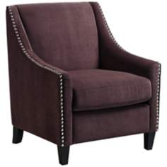 Heather Aubergine Purple Accent Armchair