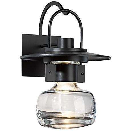 "Hubbardton Forge Mason 16"" High Black Outdoor Wall Light"