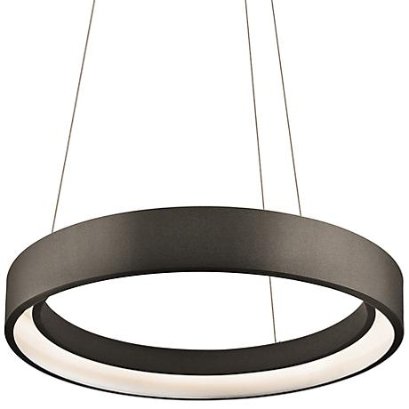 "Elan Fornello 17 3/4"" Wide Dimmable LED Black Pendant Light"
