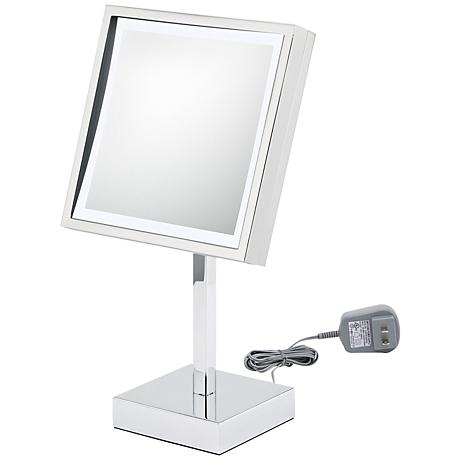 Aptations LED Square Chrome Makeup Mirror