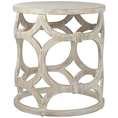 Lanini Whitewash Accent Table