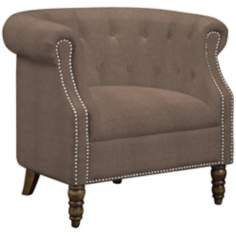 angelo:HOME Chesterfield Parisian Tan Grey Armchair