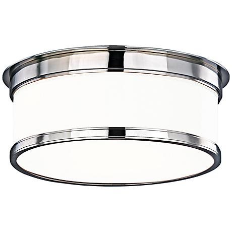"Hudson Valley Geneva Chrome 12 1/4""W Opal Ceiling Light"