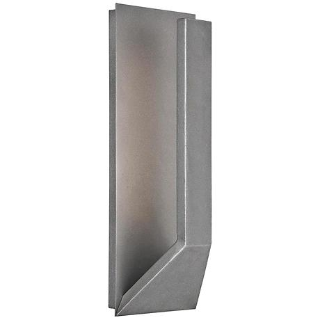 "WAC Uno 15"" High Graphite Outdoor LED Wall Light"