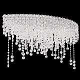 "Schonbek Chantant 33"" Wide Crystal Ceiling Light"