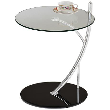 Leick Contemporary Glass Serving Table
