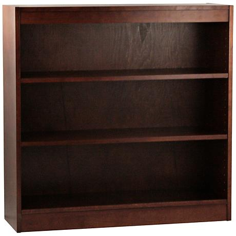 Laguna Walnut Adjustable 3-Shelf Bookcase