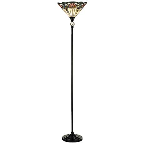 dale tiffany windham antique bronze torchiere floor lamp 5w558. Black Bedroom Furniture Sets. Home Design Ideas