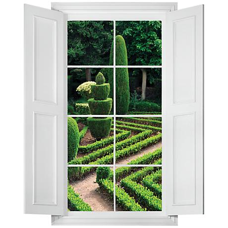 Formal Garden Wall Decal
