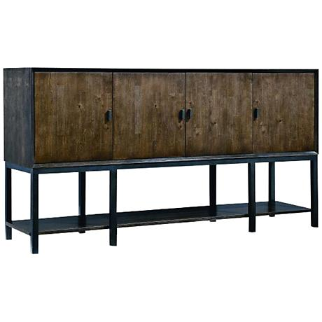 Kateri Hazelnut 4-Door Sideboard