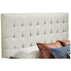 Austin Off-White Tufted Full/Queen Upholstered Headboard