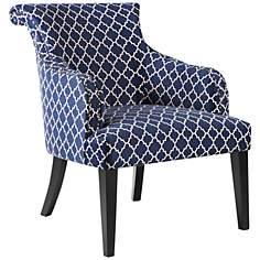 Alexis Navy Blue Fabric Armchair