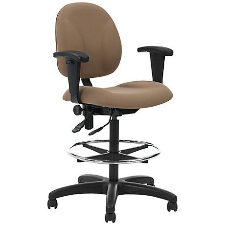 Array Adjustable Height Tan Fabric and Black Task Chair