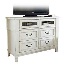 Stoney Creek Antique White 4-Drawer Media Chest