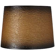 rustic lodge faux leather lamp shades lamps plus. Black Bedroom Furniture Sets. Home Design Ideas