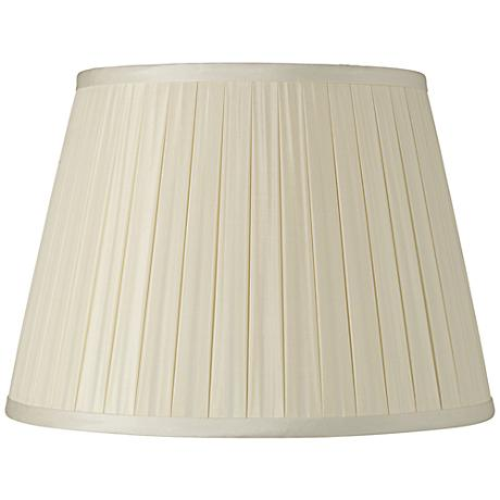 Eggshell Box Pleat Silk Shade 10x14x10 (Spider)
