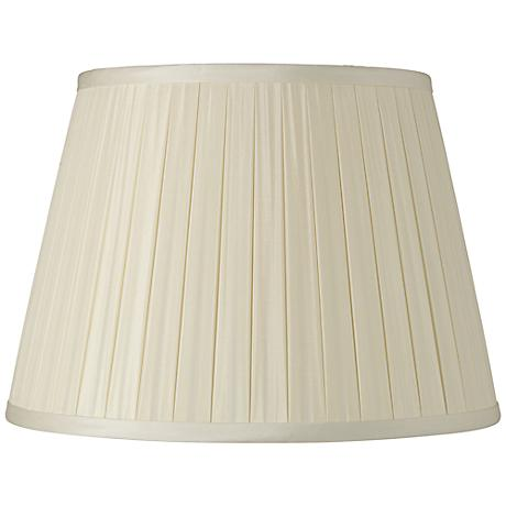 Eggshell Box Pleat Silk Shade 12x18x12 (Spider)