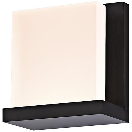 "Sonneman Glow2 5 1/2"" High Satin Black LED Wall Sconce"