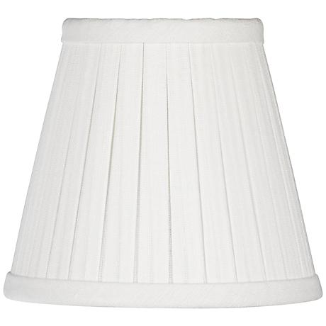 Off-White Box Pleat Linen Shade 3x5x4.5 (Clip-On)