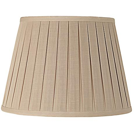 Beige Open Box Pleat Linen Empire Shade 11x17x11 (Spider)