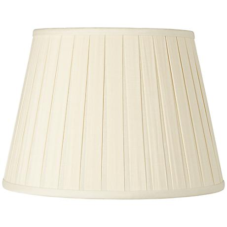 Eggshell Open Box Pleat Linen Empire Shade 10x14x10 (Spider)