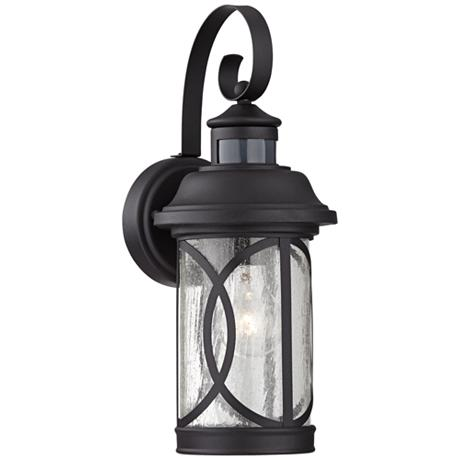 seeded glass 15 1 2 h dusk dawn motion sensor outdoor light 5y107. Black Bedroom Furniture Sets. Home Design Ideas