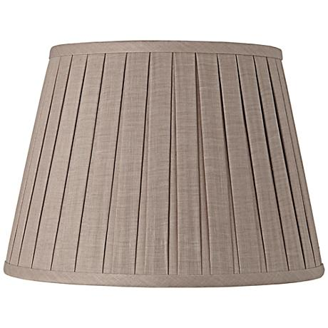 Gray Open Box Pleat Linen Empire Shade 11x17x11 (Spider)