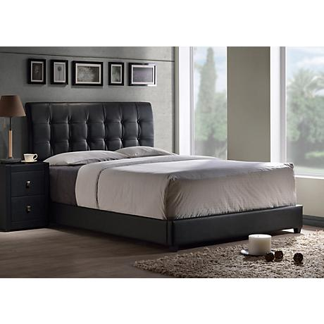 Hillsdale Lusso Black Faux Leather Bed