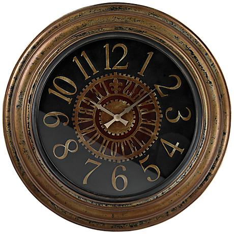 "Calverton 30"" Round Hand-Painted Wall Clock"