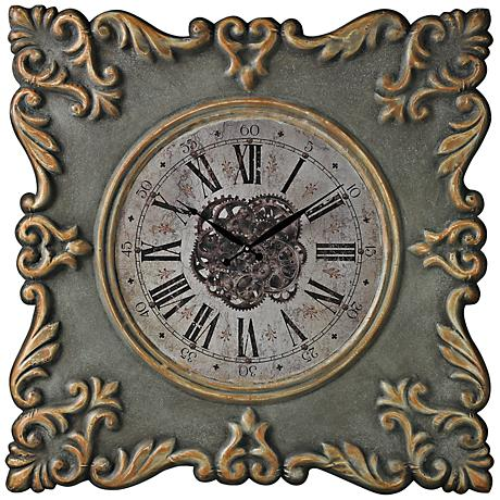 "Nahant-Antique Reproduction 35"" Square Wall Clock"