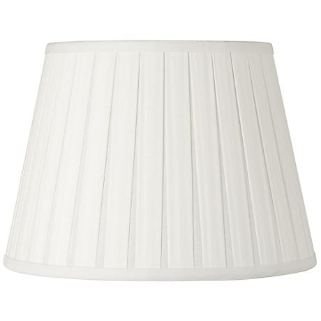 Off-White Open Box Pleat Linen Shade 10x16x10 (Spider)
