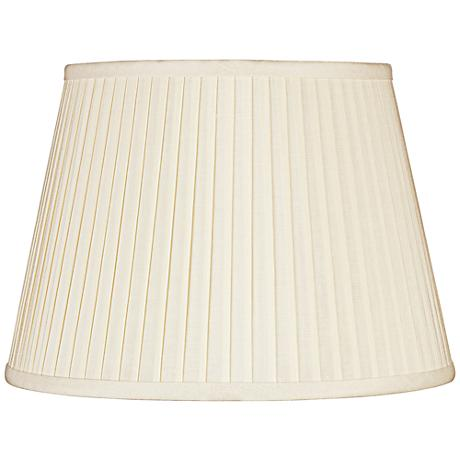 Eggshell Knife Pleat Linen Shade 13x19x12 (Spider)