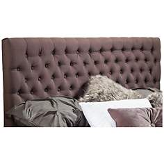 Emery Mocha Tufted Full/Queen Upholstered Headboard