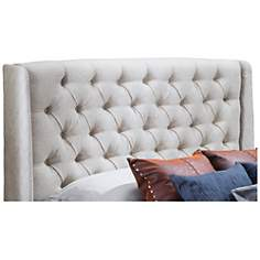 Lidia Off-White Full/Queen Wing Headboard