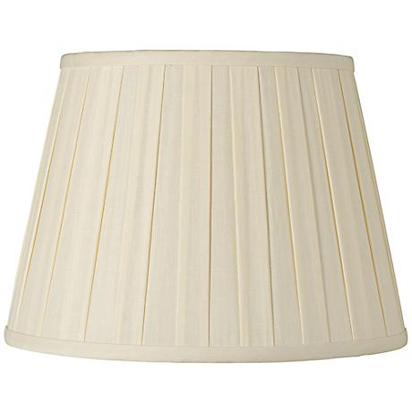 Eggshell Euro Box Pleat Shade 10x14x10 (Spider)