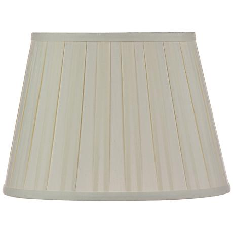 Eggshell Euro Box Pleat Shade 10x16x10 (Spider)