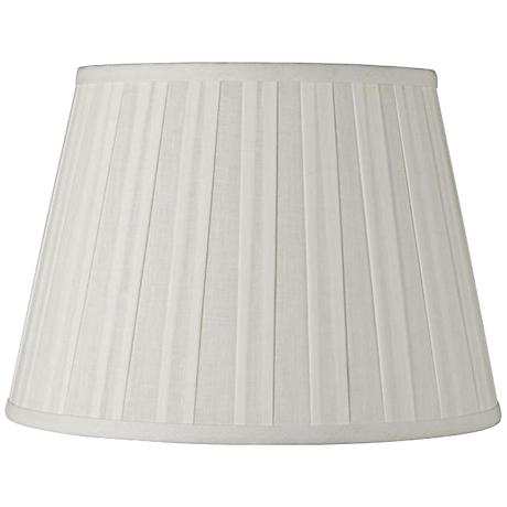 Off-White Euro Box Pleat Linen Shade 10x16x10 (Spider)