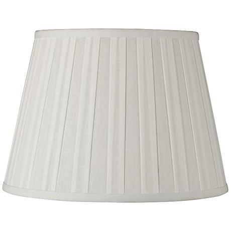 Off-White Euro Box Pleat Linen Shade 12x18x12 (Spider)