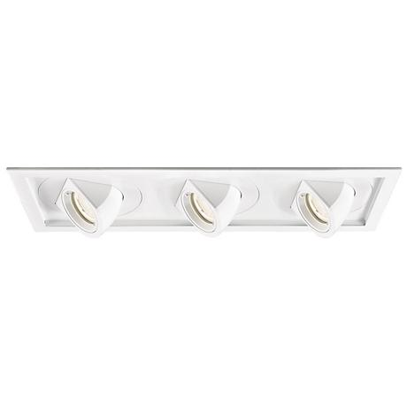 WAC Tesla LED Triple Spotlight Recessed Trim with Housing