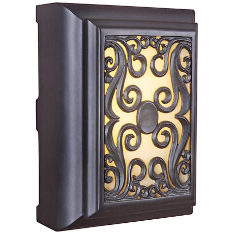 Simone Oil Bronze and Amber Glass Illuminated Door Chime