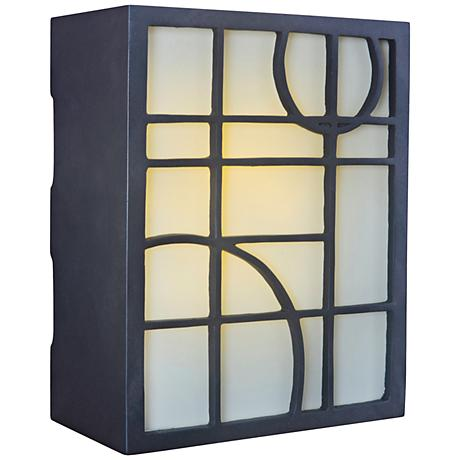 Geometric Bronze and Amber Glass Illuminated Door Chime