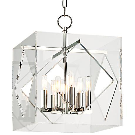 "Hudson Valley Travis 16"" Wide Polished Nickel Pendant"