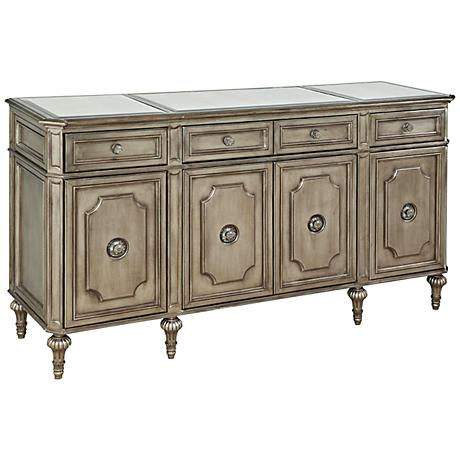Palazzina Champagne Silver 4-Drawer Wood Server