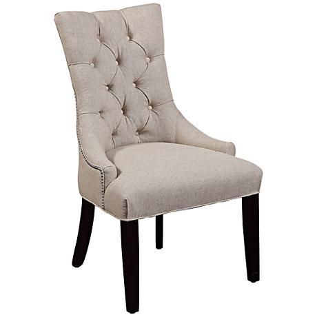 Fortnum Tufted Natural Linen Parsons Chair