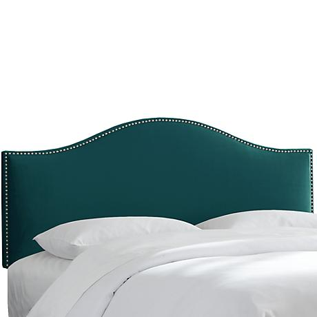 Mystere Peacock Arched Headboard